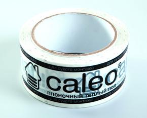Скотч с логотипом CALEO универсальный белый