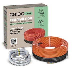 Нагревательная секция для теплого пола CALEO CABLE 18W-20, 2,8 м2