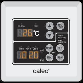 Терморегулятор CALEO UTH JP-Prg встраиваемый сенсорный, программируемый на неделю, 6 кВт
