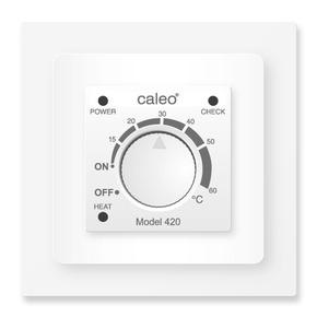 Терморегулятор CALEO 420 с адаптерами, встраиваемый аналоговый, 3,5 кВт